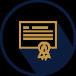certificate with bradley atlantic flame seal